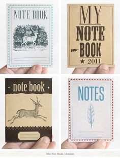 notebooks make everything better.  I love the one of the top right the best.