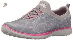 Skechers Sport Women's Microburst Mamba Fashion Sneaker, Gray/Hot Pink, 8 M US - Skechers sneakers for women (*Amazon Partner-Link)