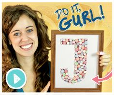 Learn How To Make An Adorable Candy Monogram Wall Decoration