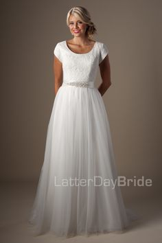 Under 800.00 Modest Wedding Dresses : Roslynhttp://www.latterdaybride.com/temple-dresses