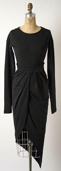 Vintage Romeo Gigli Black Silk Lace Cocktail Dress c.1980's