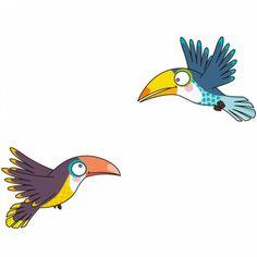 Le sticker envol de toucans de la marque Serie-golo décorera les chambre de votre enfant en lui apportant couleur et gaiété.