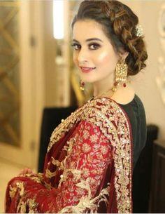 Let's Take a Look at all of Aiman Khan's Wedding Dresses Bridal Mehndi Dresses, Desi Wedding Dresses, Pakistani Wedding Outfits, Pakistani Bridal Dresses, Bridal Outfits, Shadi Dresses, Pakistani Models, Pakistani Girl, Pakistani Actress
