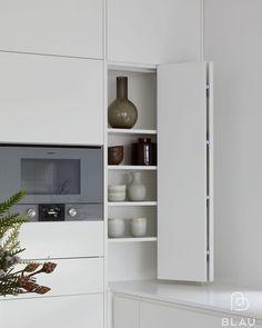 Scandinavian Modern, Tall Cabinet Storage, Shelving, Color Pop, Minimalism, Interior, Kitchen, Furniture, Instagram