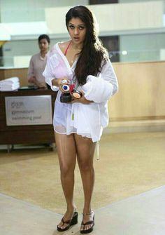 Nayantara exposing her thunder thighs