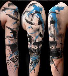 Realistic Trash Polka | Tattoodo