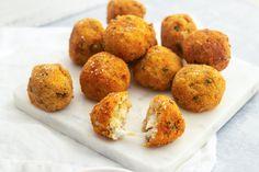 Here's Why Giada Always Doubles Her Risotto Recipe - Arancini! Giada Recipes, Chef Recipes, Food Network Recipes, Italian Recipes, Appetizer Recipes, Appetizers, Yummy Recipes, Giada De Laurentiis, Slow Food