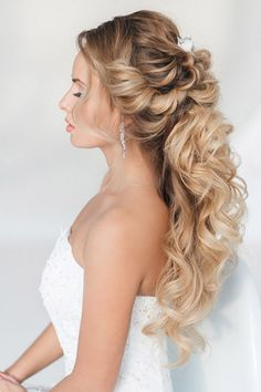 half up half down wedding hairstyles via art4studio