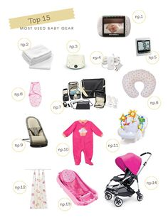 My Top 15 Most Used Baby Products | baby gear getting the nursery ready
