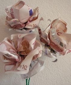 Geld boeketje, leuke cadeau-tip met geld; zelf uitgevoerd!