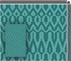 Draft 1 - Parallel Threading & Networked Treadling #weaving #draft #network
