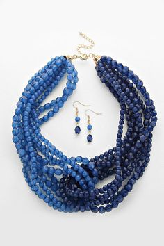 Claudia Necklace in Sapphire on Emma Stine Limited