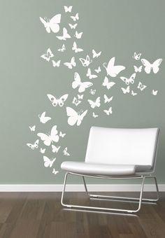 Schmetterlinge,Wandtattoo,Wandaufkleber,Butterfly