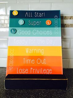 Printable Behavior Chart, DIY kids magnet clip chart, color coded toddler behavior reward sign, customizable 8x10 - INSTANT DOWNLOAD