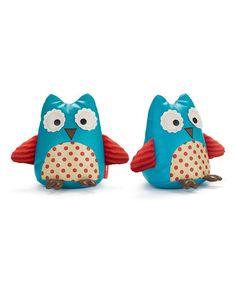 Look at this #zulilyfind! Blue Owl Bookend - Set of Two #zulilyfinds