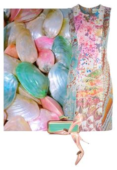 """""""Shell"""" by amy-jean ❤ liked on Polyvore featuring Mary Katrantzou, Jimmy Choo and Stella Luna"""