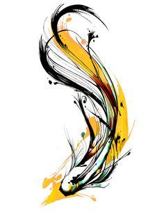 Modern Abstract Beautiful Fish Art Watercolour Canvas Painting wall choose size * Pub Date: Nov 1 2019 Watercolor Fish, Watercolor Canvas, Body Art Tattoos, Tattoo Drawings, Art Drawings, Koi Art, Fish Art, Betta Tattoo, Brush Tattoo