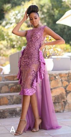 Latest Asoebi Lace For The Weekend Aso Ebi Lace Styles, Lace Dress Styles, Nigerian Lace Dress, African Lace Dresses, African Fashion Dresses, African Wedding Attire, African Attire, Short Gowns, Woman Fashion
