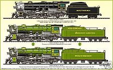SOUTHERN RAILWAY PS-4 STEAM LOCOMOTIVE POSTER