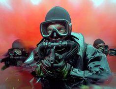 Royal Marines Emerge from Red Smoke! [3600  2764]