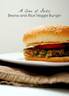 Beans & Rice Veggie Burgers  ::  via A Clove of Garlic, A Pinch of Salt blog