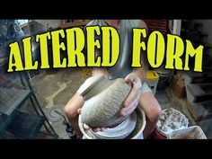 Pottery ceramic vase altering a thrown closed form - GoPro - YouTube