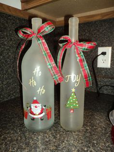 good craft for empty wine bottles