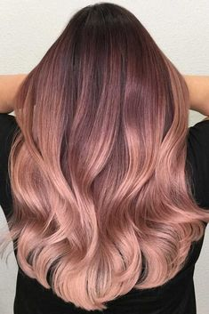 #Color  Trendy Hair Color : Rose gold hair color will definitely make you stand out, creating a girlish and ...