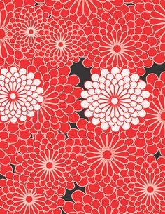 Free Printable Scrapbook paper (or gift wrap for small items): Tricia-Rennea, illustrator: Red Dahlia Paper.