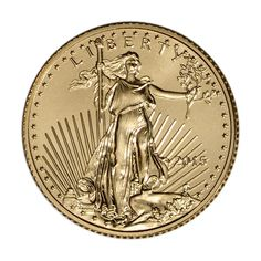 - 2015 American Gold Eagle (1/10 oz) $5 - BU - Brilliant Uncirculated Condition - Actual Gold Weight: 1/10 Troy oz
