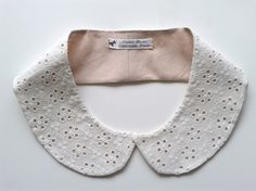 Col claudine amoviable - broderie anglaise