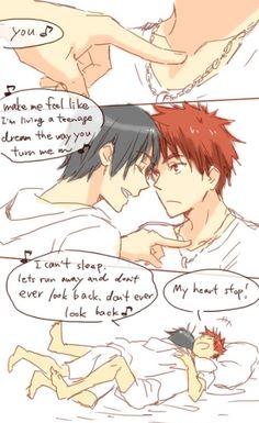 Deja dormir >:v Kuroko No Basket Kagami, Kagami Taiga, Fandom, Kuroko's Basketball, Anime Boyfriend, Kim Jong In, Shounen Ai, Anime Love, Cute Couples