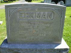 Genealogical Gems: Tombstone Tuesday: John & Letitia Eckman