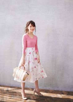 pattern_1 Stylish Summer Outfits, Modern Outfits, Classy Outfits, Pretty Outfits, Kawaii Fashion, Pink Fashion, Fashion Outfits, Womens Fashion, Japanese Outfits