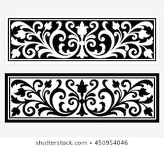 Vector vintage border frame logo engraving with retro ornament pattern in antique rococo style decorative design Laser Cut Patterns, Stencil Patterns, Stencil Designs, Pattern Art, Vintage Logos, Motifs Islamiques, Cnc Cutting Design, Vintage Borders, Home Designs Exterior