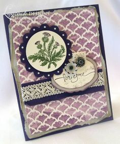 Nature's Pace stamp set from STampin UP. Scottish Thistle by Michelle Laycock - Cards and Paper Crafts at Splitcoaststampers
