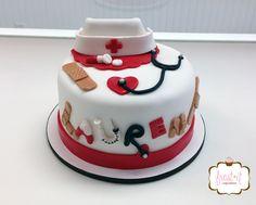 Fondant nurse theme cake for nursing school graduate