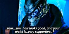 "Even if he's a little awkward sometimes. | 15 Reasons Why Garrus Vakarian Is The Perfect ""Mass Effect"" Boyfriend"