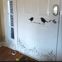 Wall Decal on Door Wall Decals, Vinyl Decals, Wall Art, Cottage Crafts, Repurposed Furniture, Coloring Books, Home Goods, Home Improvement, Diy Crafts