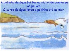 Era Uma Vez Uma Gotinha De áGua Education, Water Cycle Activities, Kids Story Books, Flowers, Educational Illustrations, Learning, Onderwijs, Studying