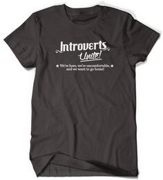 Introvert T-shirt Funny Humor T Shirt T Shirt Tee by BoooTees