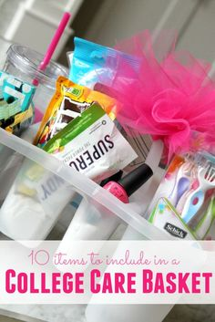 DIY College Care Package! Easy Gift Idea for a College Student in your life!