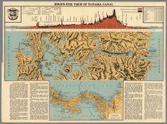 Bird's Eye View of the Panama Canal (1915)   I.L. Maduro Jr.