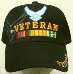6318c061b NEW U.S. AIR FORCE USAF VIET NAM VIETNAM VET VETERAN INSIGNIA CAP HAT CAMO  BLACK #