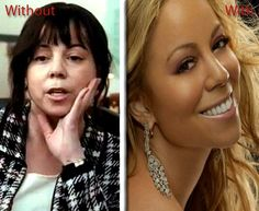 mariah carey with and without makeup and plastic surgery