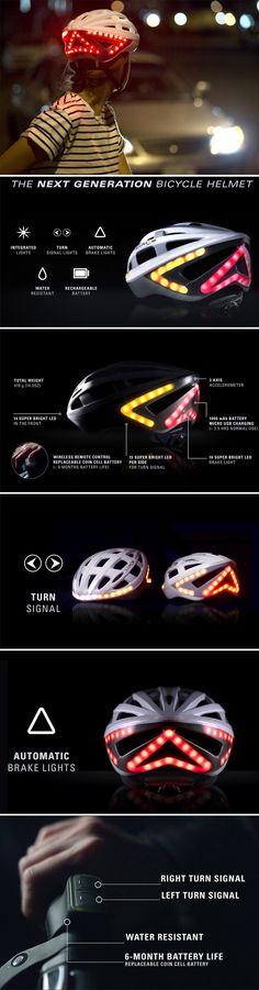 Lumos Smart Bike Helmet with Wireless Turn Signal Handlebar Remote and Built-In Motion Sensor