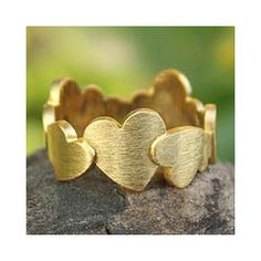 Gold Plated 'Much Love' Ring (Thailand)