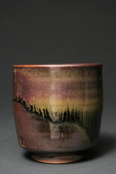 """Light's Invitation no. 2"", 2010 - 4"" tall x 3.5"" wide - Cone 10, Stoneware, Gas/Reduction/Salt Fired, Rutile Stain, Tenmoku Glaze."
