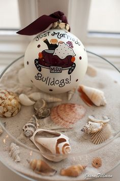 Mississippi State Bulldogs beach wedding