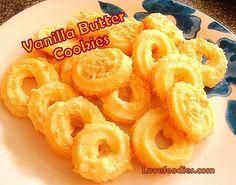 Vanilla Butter Ring Cookies - Lovefoodies hanging out! Tease your taste buds!#.UiTW59oo6M8#.UiTW59oo6M8#.UiTW59oo6M8